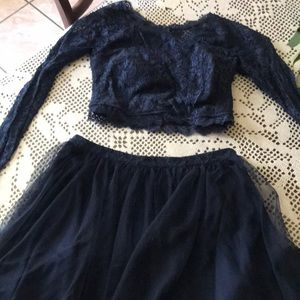 Sequin Hearts Dresses - Navy blue dress